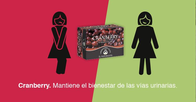 Cranberry. El beneficio del arándano rojo para las vías urinarias.